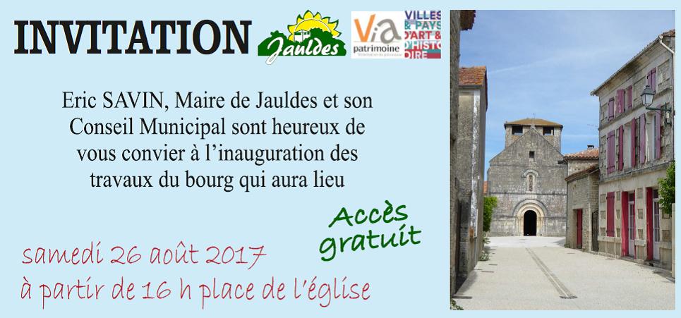 Invitation Inauguration Du Bourg Actualites Jauldes