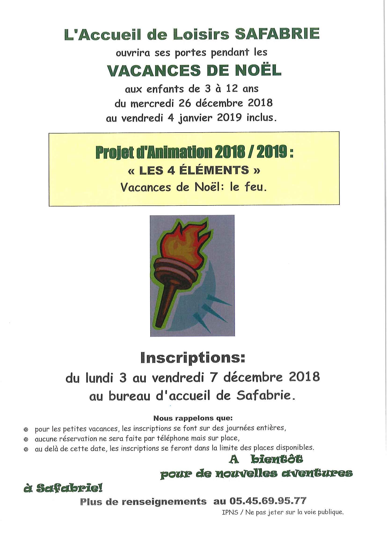 SAFABRIE NOEL 2018