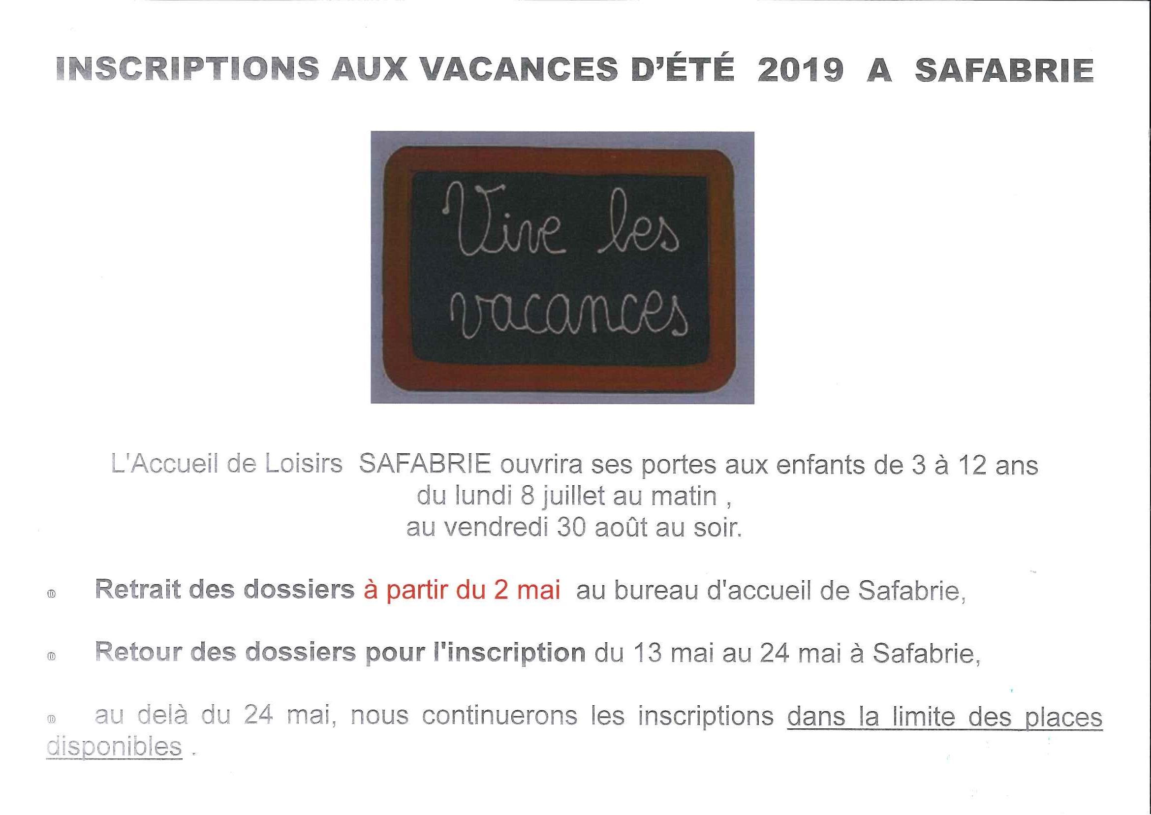 Vacances été 2019 1