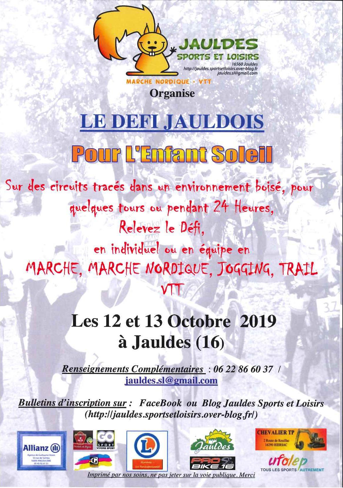 Défi Jauldois 2019