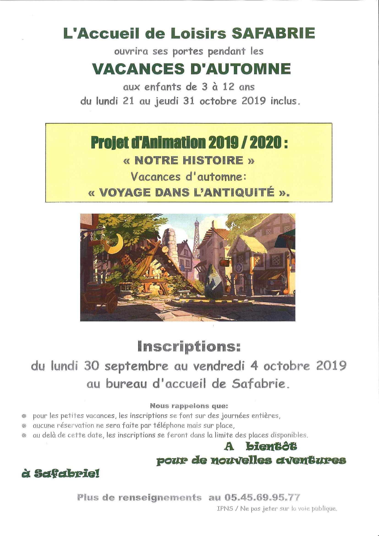 SAFABRIE automne 2019